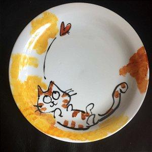 Pratinho de sobremesa coisa fofa - gatinho