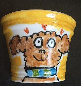 Vasinho de parede Cachorro fofo