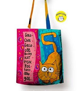 Sacola Gato poliglota