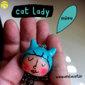 Colar Cat lady - azul