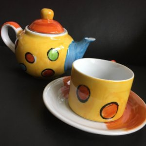 Hora do chá com bule Bolas