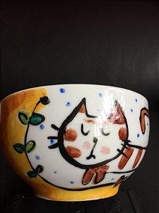 Bowl Gato e Flores