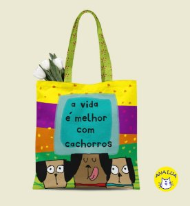 Book Bag A vida é melhor com cachorros