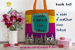 Book Bag A vida é melhor com gatos