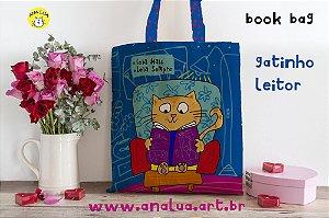 Book Bag Gatinho Lendo