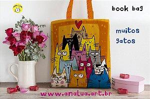 Book Bag Muitos Gatos