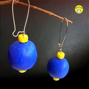 Brinco  Bolas  Azuis