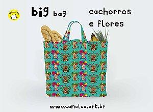 Big Bag Cachorros e flores