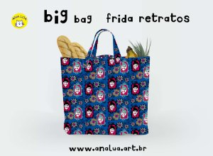 Big Bag Frida Retratos