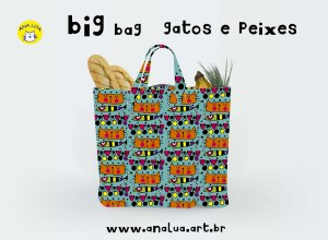 Big Bag  Gato e peixes