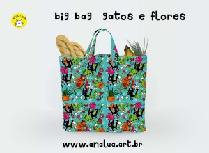 Big Bag Gatos e Flores