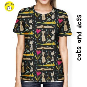 Blusa Cats And Dogs