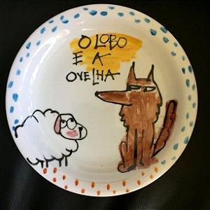 Pratinho de sobremesa O Lobo e a Ovelha
