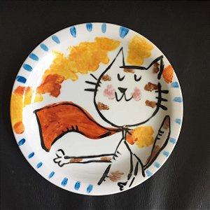 Pratinho de sobremesa  Super Gato!
