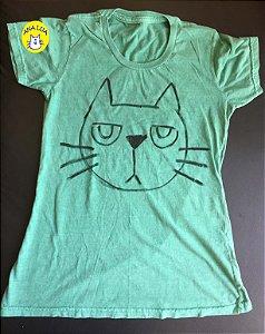 Blusa Gato emburrado- verde