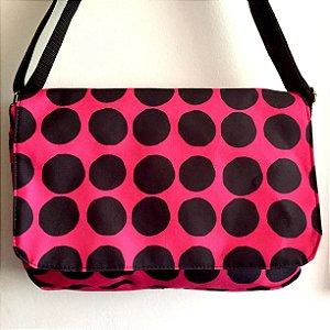 Bolsa Carteiro  Bolas - rosa