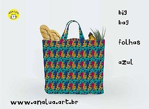 Big Bag Folhas Azul