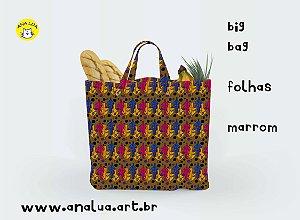 Big Bag Folhas Marrom