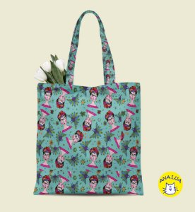 Book Bag Frida azul