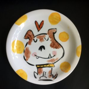 Pratinho de sobremesa Cachorrinho feliz