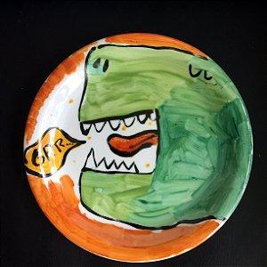 Pratinho de sobremesa GRRR... Dinossauro