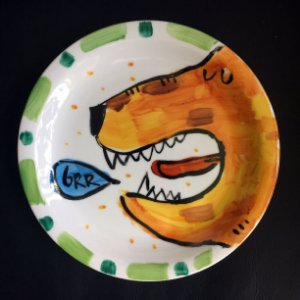 Pratinho de sobremesa GRRR... Tigre