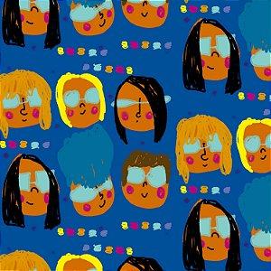Tecido - Meninas Cabelos variados