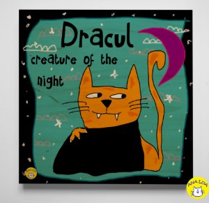 Plaquinha Dracul , criatura da noite.