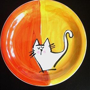 Pratinho de sobremesa  Metade laranja
