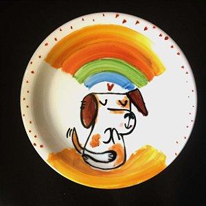 Pratinho de sobremesa  Cachorrinho Zen