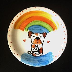 Pratinho de sobremesa  Cachorrinho Zen 2
