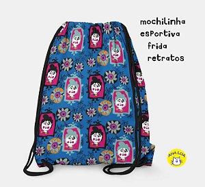 Mochilinha  Esportiva Frida retratos