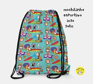 Mochilinha  Esportiva Ioga- gato