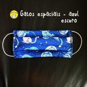Máscara GAto espacial - azul escuro