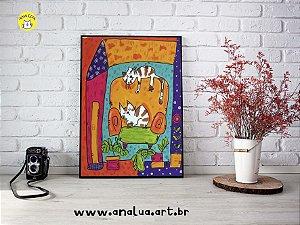 Pintura - Tela Gatos no sofá