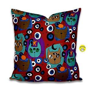 Capa de Almofada Gatos Místicos