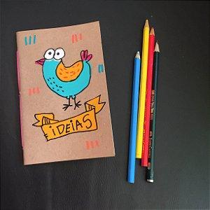 Caderninho  Ideias Passarinho
