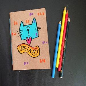 Caderninho  Ideias GAtinho azul