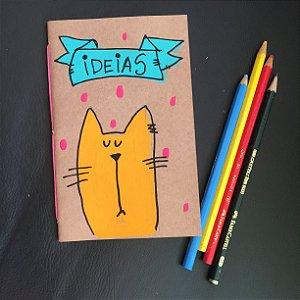 Caderninho  Ideias Gatinho amarelo