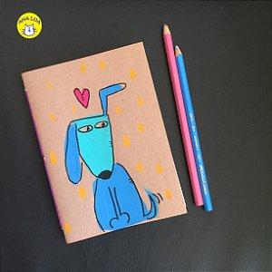 Caderninho  Cachorrinho Azul