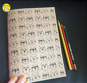 Caderno GAtunos - folhas coloridas