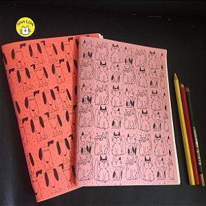 Caderno Kit GAtos e Cachorrinhos