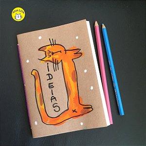 Caderninho  Gato espichado