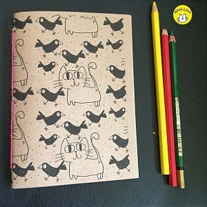 Caderninho GAtos e Passarinhos