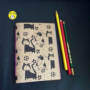Caderninho Gatos malhados e flores