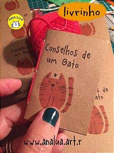 Mini livrinho Conselhos de um Gato