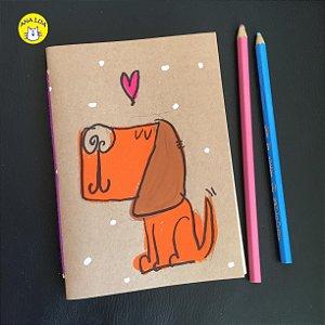Caderninho  cachorrinho amor