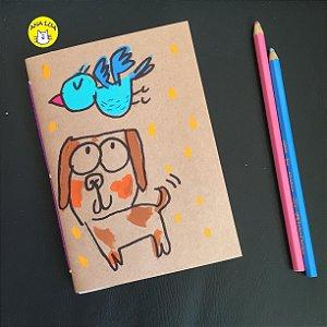 Caderninho  Cachorro e Passarinho