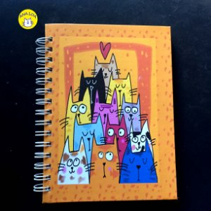 Caderno  Wire-o Muitos GAtos