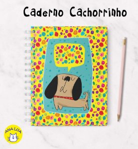 Caderno  Wire-o Cachorrinho